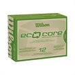 Wilson (R) Eco Core Golf Ball Std Serv - Pack of golf balls with recycled rubber core. Green friendly, earth friendly.