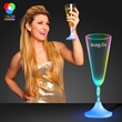 Lighted champagne glass