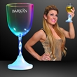 Lighted wine glass