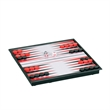 Magnetic Backgammon Set -Travel Size - Travel backgammon set with all pieces inside. Magnetized board for play on the move.
