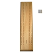 Competition Cribbage Set-Solid Wood Sprint 2 Track Board - Solid wood cribbage board, 60 holes long.