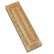 Cabinet Cribbage Set-Solid Wood 3 Track Board w/Brass Pegs - 3 Track Solid Wood Cribbage Board with Cards and Storage,