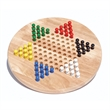 "Solid Wood Chinese Checkers w/ Wooden Pegs-11.5 in Diameter - Chinese checkers, 11"" diameter."