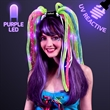 Neon Rave Noodle Hair Headband with Purple LED's