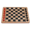 Solid Wood Checkers Set - Red & Black Traditional Style - Red and black wood checkers set.