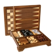 Walnut 7-Games-in-1 Combination Game Set - Walnut combination set, 7-in-1.