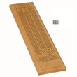 Classic Cribbage Set - Solid Wood 3 Track Board w/Metal Pegs - 3 track wood cribbage game set.