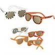 "Safari Sunglasses - Safari Sunglasses. Children's sunglasses in assorted animal prints. Approximately 4 3/4"" across the front."