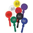 "Round Clappers - Round Clappers. Clapper is 7"". Available in orange, white, yellow, red, purple, green, black, blue or assorted."