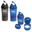 17 oz. FITNESS SHAKER CUP WITH COMPARTMENT - Holds 17 liquid ounces in the top compartment