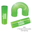 Translucent Tall Fun Coil Spring Shape Maker - Green - E668 - Translucent Coil Spring Toy Shape Maker