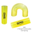 Translucent Tall Fun Coil Spring Shape Maker - Yellow - E668 - Translucent Coil Spring Toy Shape Maker