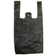 "Black T-shirt Shopping Bags - Black t-shirt shopping bags, 8"" x 4"" x 16"". Reusable. Blank."