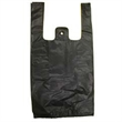 "Black T-shirt Shopping Bags - Black t-shirt shopping bags, 10"" x 5"" x 19"". Reusable. Blank."
