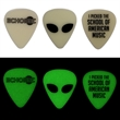 Celluloid Glow in the Dark Guitar Picks - Standard style glow in the dark celluloid guitar pick.