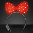 Light Up Red Big Bow Headband