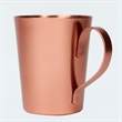Copper Moscow Mule Mug - 15oz Aluminum Riveted Handle - Copper Moscow Mule Mug - 15oz. Aluminum mug with copper-plated exterior and a riveted handle.