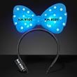 Light Up Blue Big Bow Headband