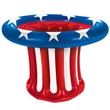 Inflatable Patriotic Hat Cooler - Inflatable patriotic hat cooler.