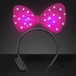 Light Up Pink Big Bow Headband