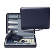 Blue Magnetic Backgammon Set with Carrying Strap Travel Size - Blue travel magnetic backgammon.