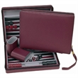 Burgundy Magnetic Backgammon Set with Carrying Strap - Burgundy travel magnetic backgammon.