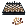 French Staunton Chess & Checkers Set-Weighted Pieces- 15 in. - Chess / checkers set.