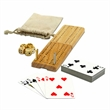 Cribbage and More Travel Game Pack - 12 in 1 combination game pack in cotton canvas bag, cribbage and more.
