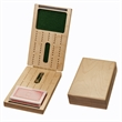 Travel Cribbage Set - Solid Wood Folding 2 Track Full-size - Travel Cribbage Set - Solid Wood Folding 2 Track Full-size Board with Storage for Cards and Metal Pegs