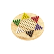 "Small Chinese Wooden Checker - 7"" small Chinese wooden checkers, six different set of wood color pegs."