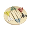"Standard Chinese Wooden Checkers - 11"" standard Chinese wooden checkers with six sets of colored wooden pegs"