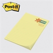 "Post-it(R) Custom Printed Notepad - Post-it Notes - 4"" x 6"", 25 sheets, 1 color - custom printed notepads."
