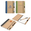 Junior notebook and pen - Junior notebook and pen, made from recycled material.