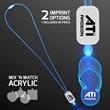 LED Neon Blue Lanyard with Acrylic Sandal Pendant