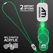 LED Neon Green Lanyard with Acrylic Sandal Pendant
