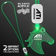 LED Neon Green Lanyards with Acrylic Horse Pendant