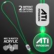 LED Neon Green Lanyards with Acrylic Circle Pendant