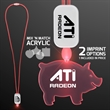 LED Neon Red Lanyard with Acrylic Pig Pendant