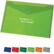 Snap-It Travel Envelope - Bold color translucent letter sized envelope with snap closure.