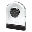Crystal Desk Clock - Crystal desk clock with beveled front and second hand
