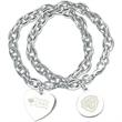 "Linx Bracelet - 7 1/2"" link bracelet, heart charm."