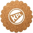 """Flower Shaped Cork Coaster - Durable, absorbent coasters protect tabletops and desktops from cup rings. Constructed from 1/8"""" thick natural cork material."""