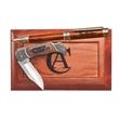 """Ballpoint Pen & 3"""" Lockback Knife - Ballpoint pen and 3"""" lock back knife in wood gift box."""