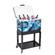 54 Quart Steel Cooler - 54 quart grey cooler made of steel and plastic; comes with stainless steel accessories, bottle opener and capped drain.