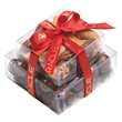 Stacked Present with Chocolate Peanuts and Mixed Nuts - Stacked Present with Chocolate Peanuts and Mixed Nuts.