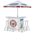 Custom Bar Display with Matching Stools - Looking for a Unique Display that is More than a 10x10 Canopy? Our Portable Bar Display Inherently Invites People Over To Engage.