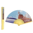 Polyester folding fan