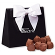 Cocoa Dusted Truffles in Black & White Triangular Gift Box - black and white triangular gift box filled with cocoa dusted truffles