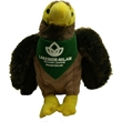 "7"" Hawk Stuffed Animal with Bandana and One Color Imprint"