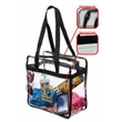 Clear Stadium Tote Bag - Clear stadium bag is perfect for any sporting events and outdoor outings. Complies with the new NFL stadium and PGA
